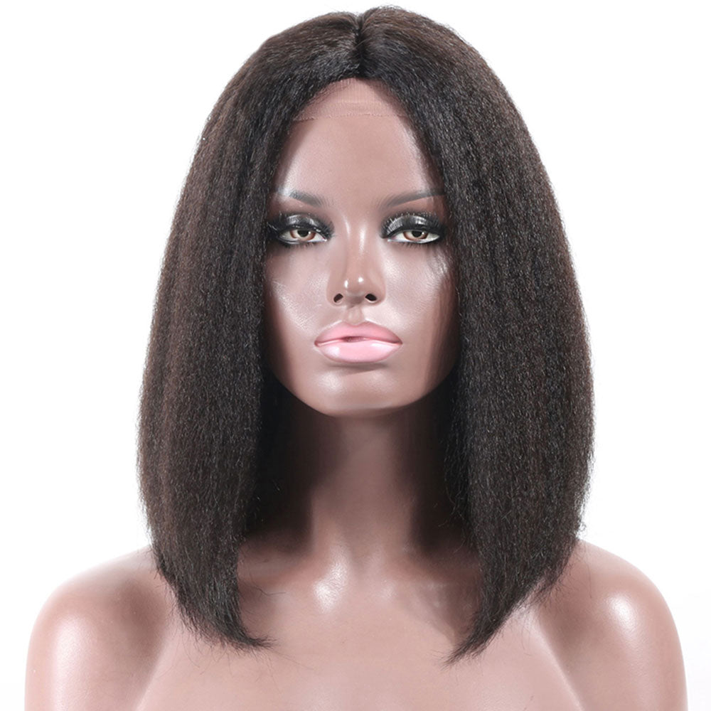 *NEW IN*  Rechoo Pre-Plucked Brazilian Virgin Hair Kinky Straight Bob Wigs