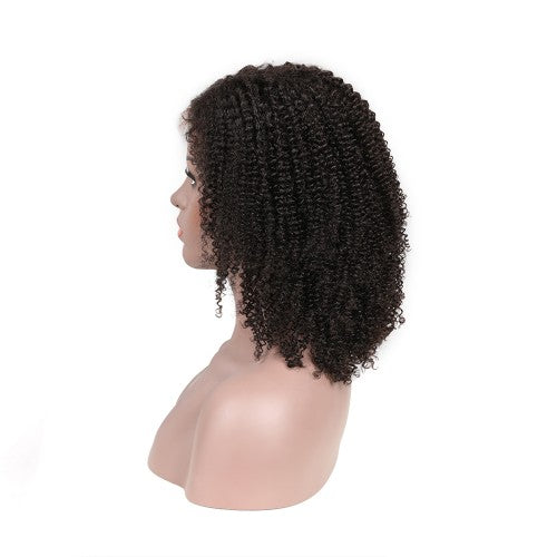 Pre-Plucked 250% Afro Kinky Curly 4c 13x6 Virgin Hair Lace Front Wig