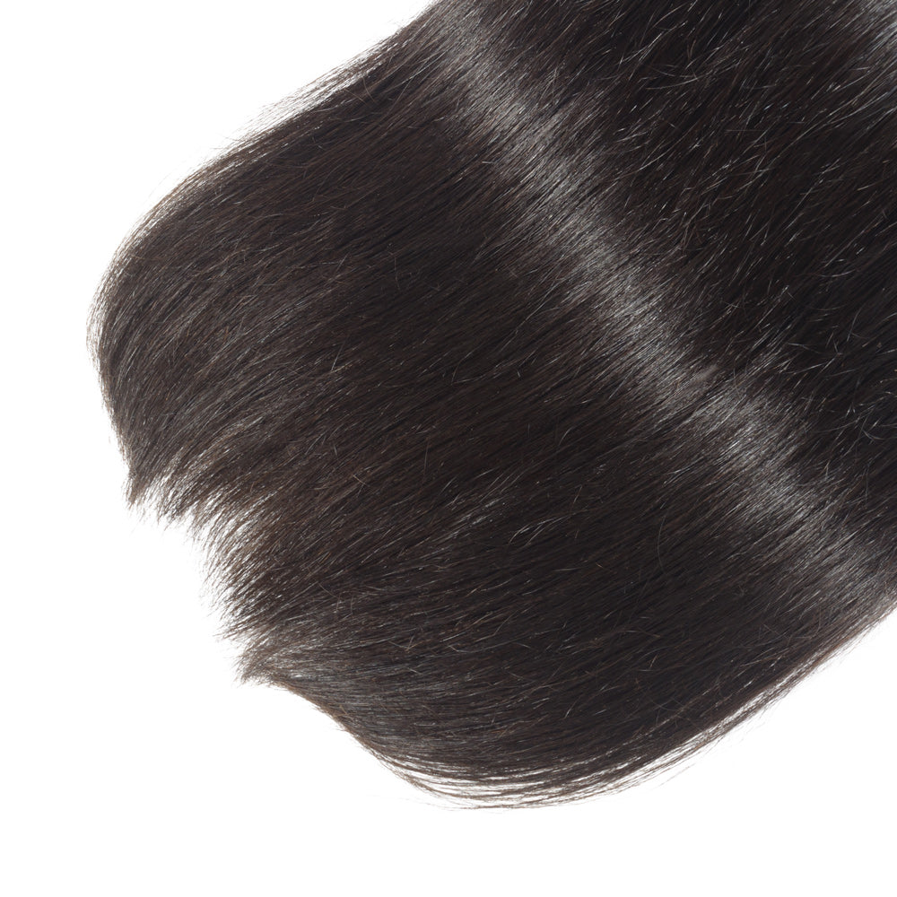"Rechoo 10""-30"" 4 Bundles Straight 10A Virgin Malaysian Hair Natural Black 400g"