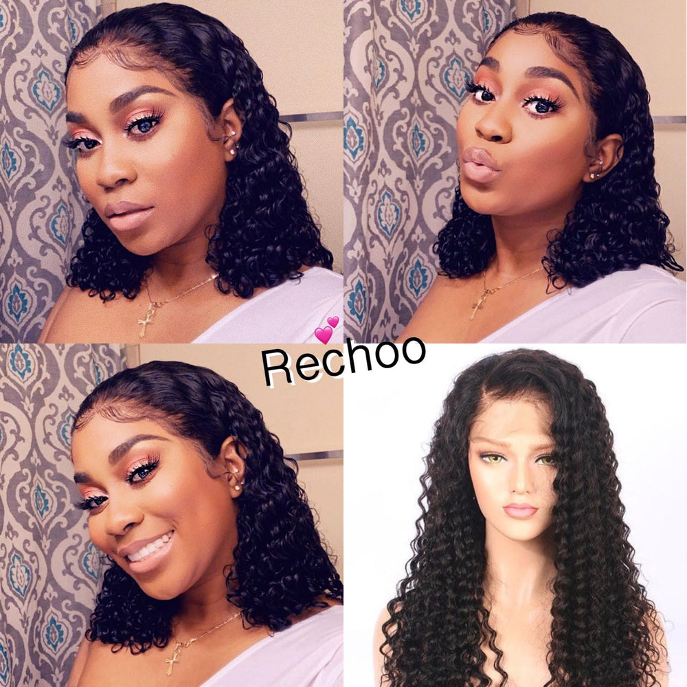 【NEW IN】13*6 Deep Part Pre-Plucked Deep Curly Brazilian Virgin Hair Lace Front Wigs