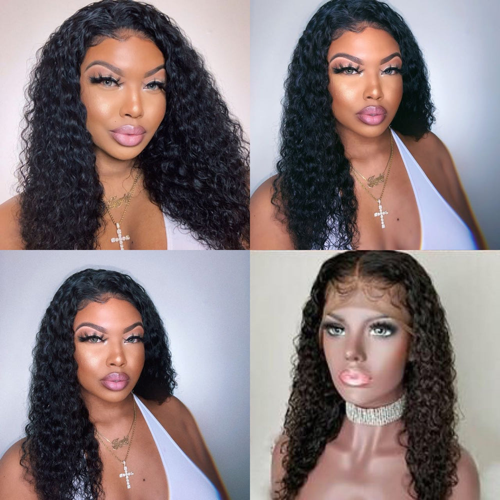 *NEW IN* 13*6 Deep Parting Water Wavy Brazilian Virgin Hair Lace Front Wigs