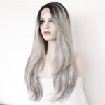 Rechoo Sanial Gray Synthetic Wigs