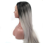 RECHOO Ombre Straight Synthetic Lace Front Wig