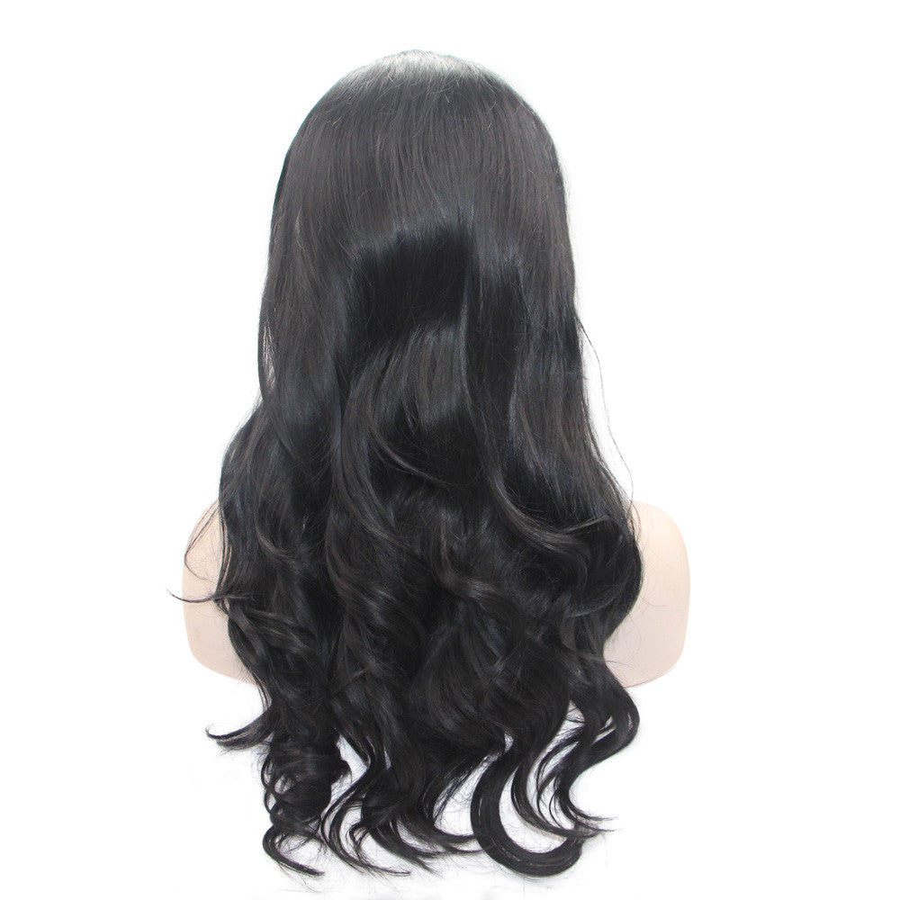 Rechoo Emily Black Wavy Synthetic Wigs
