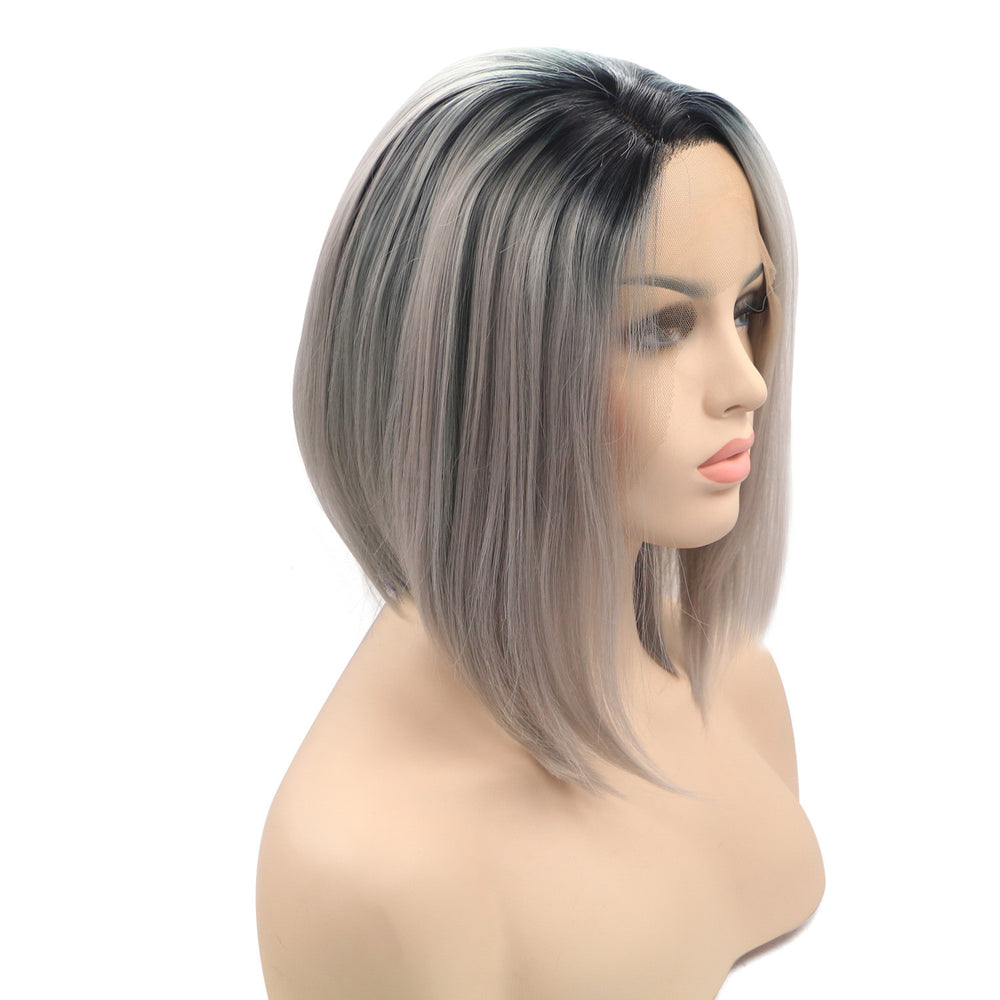 Rechoo Star Gray Bob Synthetic Wigs