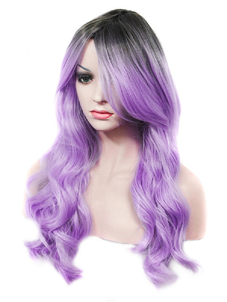 Rechoo Violet Synthetic Wigs