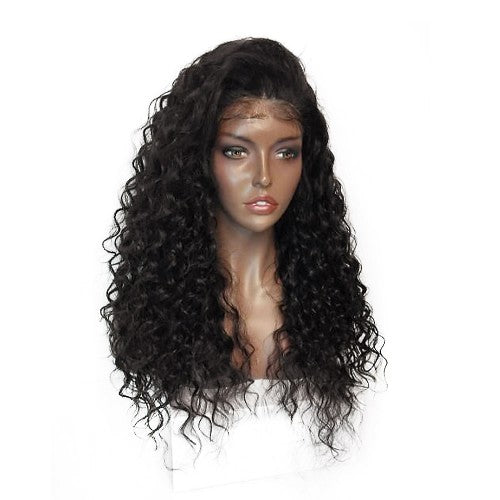 Rechoo Blueberry Curly Synthetic Lace Front Wig