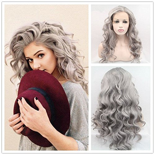 Rechoo Grayish Synthetic Wigs