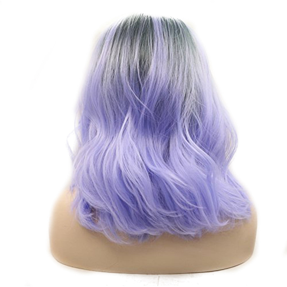 Rechoo Lilac Wavy Synthetic Wigs