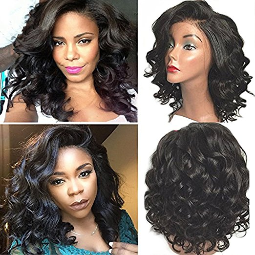 Rechoo Lace Front Synthetic Hair Wig PWS436 Curly