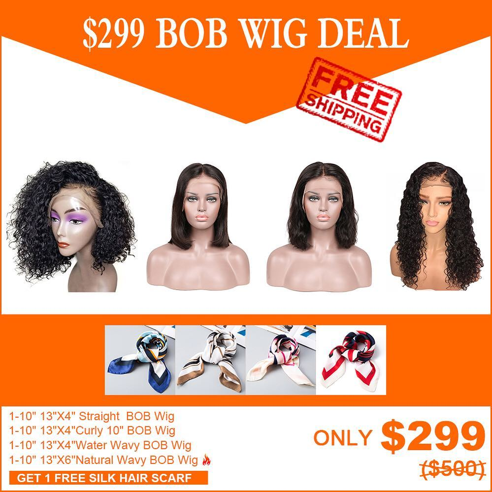WIG DEAL--$299 FREE SHIPPING BOB WIG (4 PCS)