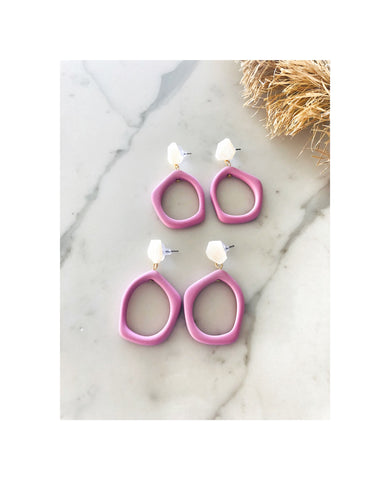 Pink Acrylic Earrings