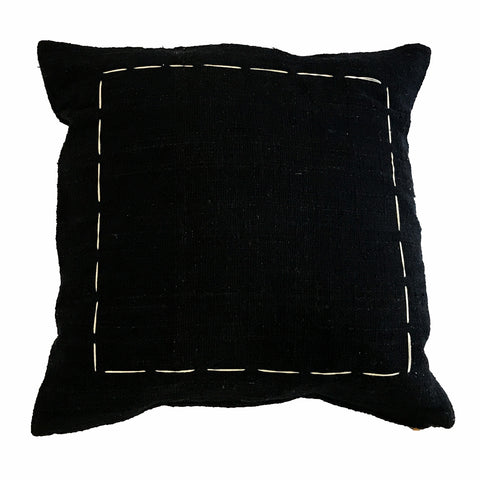 Black Hand Stitch Cushion Cover