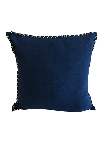 Blue Stitch Cushion Cover