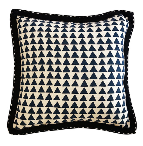 Blue Triangle Cushion Cover