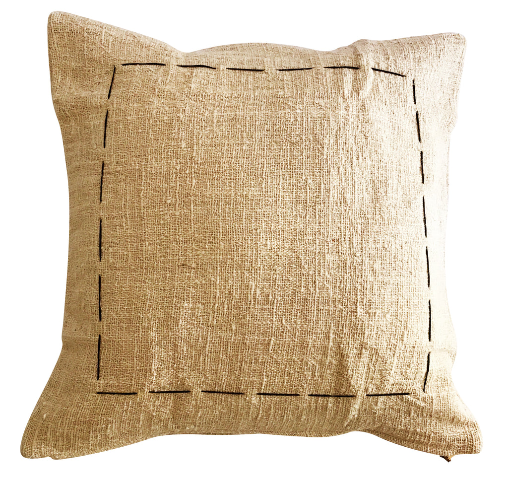 Natural Hand Stitch Cushion Cover