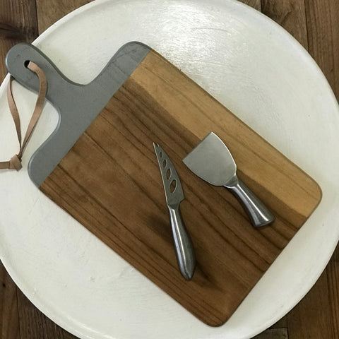 Wood Dapur Chopping/Cheese Board Grey