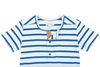 Sea Apple Blue Stripe Henley T-Shirt