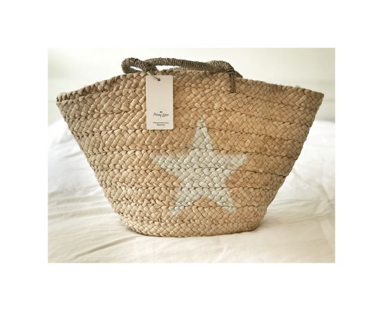 Star Woven Tote Bag
