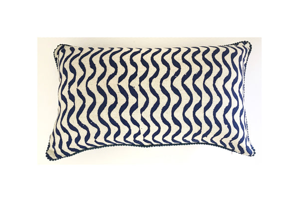 Blue Wave Lumbar Cushion Cover
