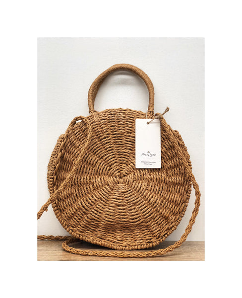 Natural Woven Shoulder Bag