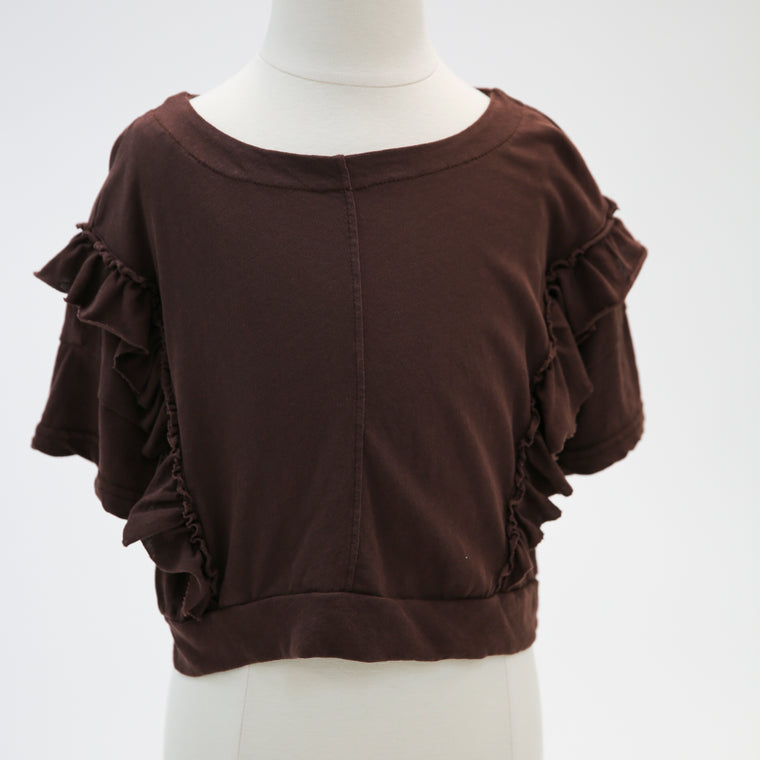 Brown Frill Top