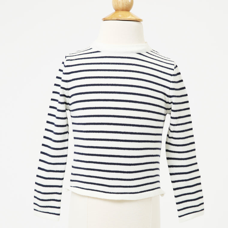 Black And White Striped Knitwear
