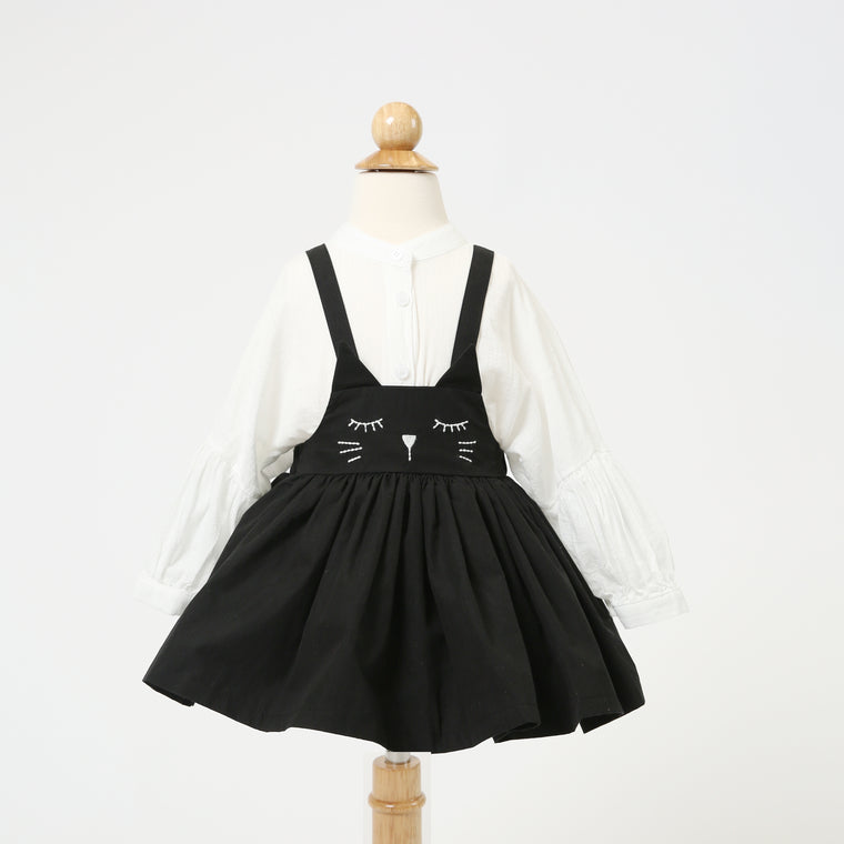 Cat Face Overall Dress