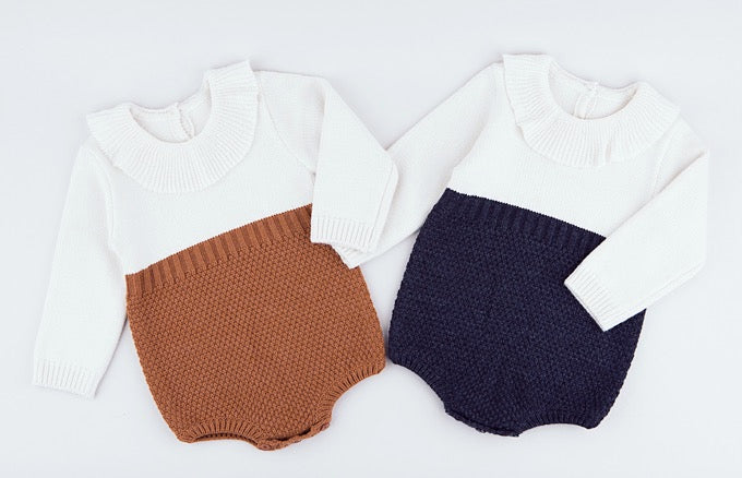 Two-Tone Knit Bodysuit