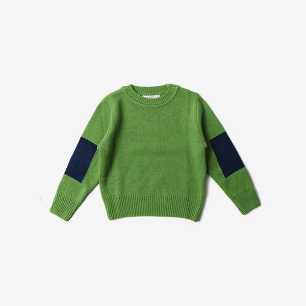 Arm Patch Pullover Sweater