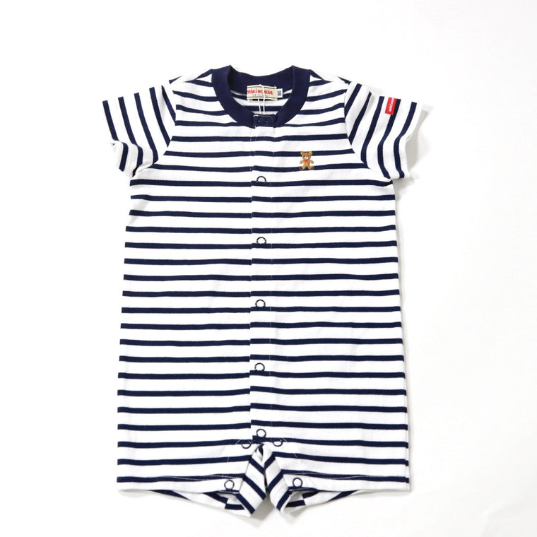 Blue Stripe Bear Jumpsuit