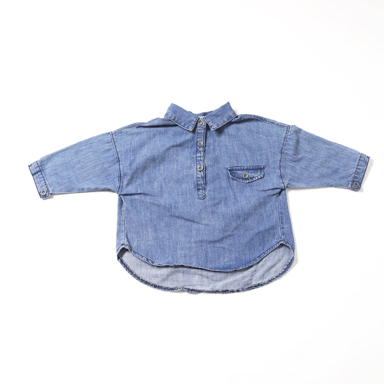 Denim Shirt with Collar