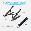 Adjustable Laptop Stand for Desk-Black