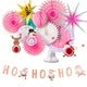 Christmas Party Decoration Set of Hanging Tissue Paper Fans Circle Paper Star - paperjazz