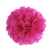 Hot Pink Tissue Paper Pompom 3 pcs in one pack - paperjazz