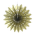 Gold Tissue Paper Fans or Pinwheel 3 in one pack