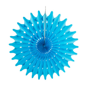 Royal Blue Tissue Paper Fans or Pinwheel - paperjazz