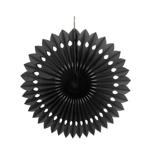 Black Tissue Paper Fans or Pinwheel - paperjazz