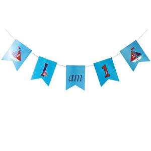 "Ahoy Boy DIY ""I am 1"" Swallowtail Banner"