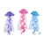 Mermaid Birthday Theme Party Jelly Fish Honeycomb Hanging Decor - paperjazz