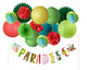 PAPER JAZZ Paradise Banner kit for Summer Hawaiian Tropical Fruit Theme Party - paperjazz