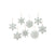 Silver Glitter Snowflake Pendant-Christmas decoration|Paperjazz