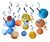 Outer space theme party supply kit swirl party decoration