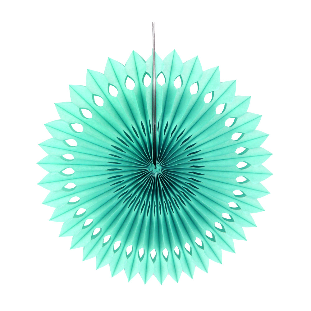 Mint pinwheel fans Hanging party decorations Mint green tissue fan 13 inch Mint party decor. Mint green tissue paper pinwheel fan