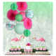 Red Fan Colorful Paper Lantern Decoration for Tropical Boho Summer Party - paperjazz