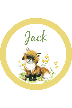 Personalised Woodland Creature wall decal
