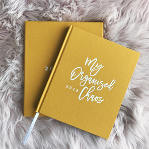 Write To Me: 2018 My Organised Chaos Planner Mustard - GFP Babies Newborn Photography
