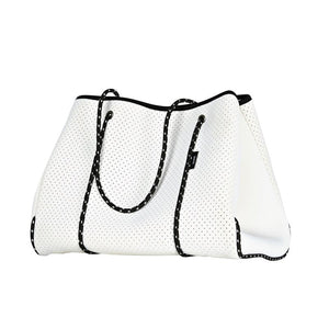 Lark: Punch Nappy and Tote Bag in White - GFP Babies Newborn Photography