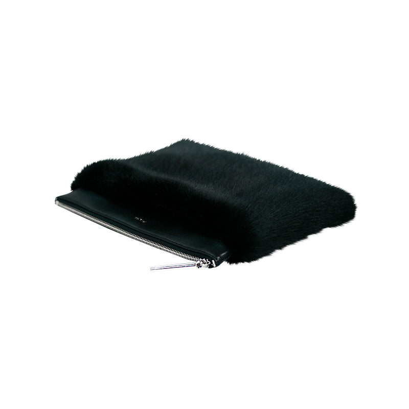 FUR CLUTCH - BLACK - milma.studio