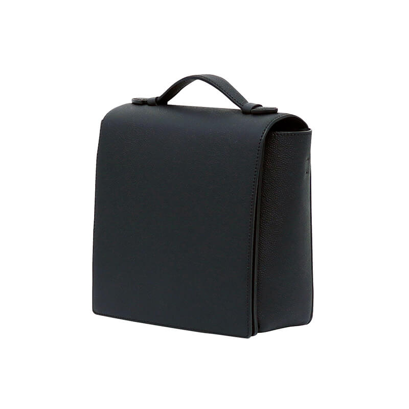 SQUARE FLAP - JET BLACK - milma.studio